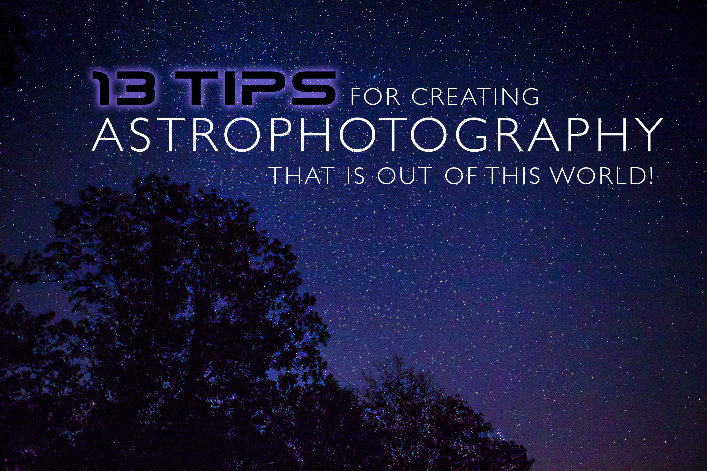 Astro Photography by Aston with Typography